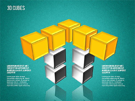 Complex 3D Cubes, Slide 14, 01592, Business Models — PoweredTemplate.com