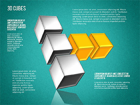Complex 3D Cubes, Slide 15, 01592, Business Models — PoweredTemplate.com