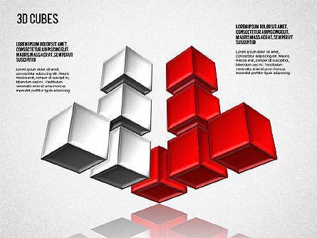 Complex 3D Cubes, Slide 2, 01592, Business Models — PoweredTemplate.com