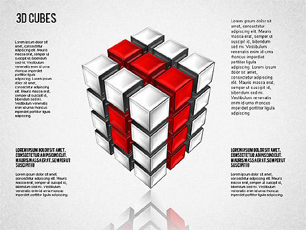 Complex 3D Cubes, Slide 3, 01592, Business Models — PoweredTemplate.com