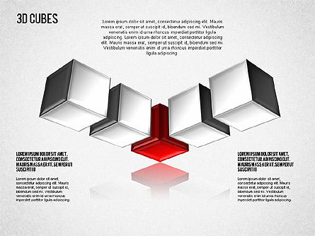 Complex 3D Cubes, Slide 5, 01592, Business Models — PoweredTemplate.com