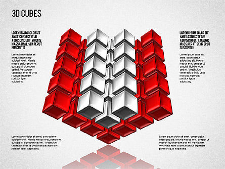 Complex 3D Cubes, Slide 8, 01592, Business Models — PoweredTemplate.com