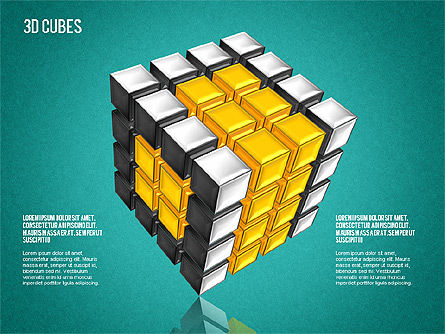 Complex 3D Cubes, Slide 9, 01592, Business Models — PoweredTemplate.com