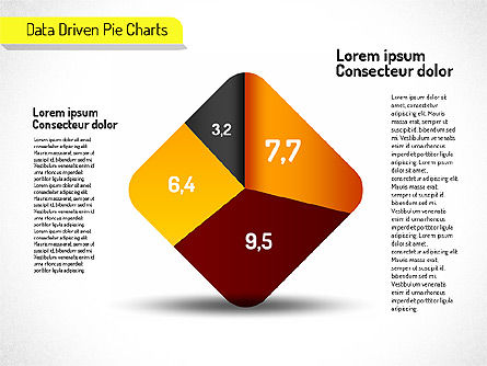 Creative Pie Charts Set (data driven), 01595, Data Driven Diagrams and Charts — PoweredTemplate.com
