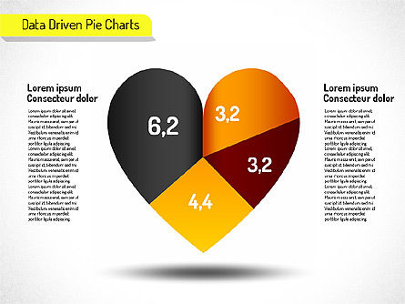 Creative Pie Charts Set (data driven), Slide 2, 01595, Data Driven Diagrams and Charts — PoweredTemplate.com