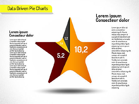 Creative Pie Charts Set (data driven), Slide 3, 01595, Data Driven Diagrams and Charts — PoweredTemplate.com