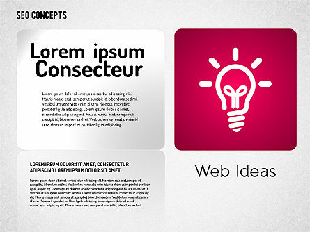 SEO Concept with Icons, Slide 2, 01596, Icons — PoweredTemplate.com