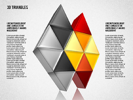 Shapes from Triangles, 01597, Shapes — PoweredTemplate.com