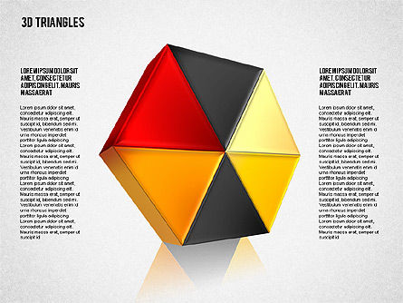 Shapes from Triangles, Slide 4, 01597, Shapes — PoweredTemplate.com
