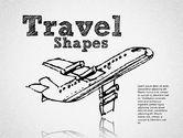 Shapes: 手描きの旅行の形 #01599