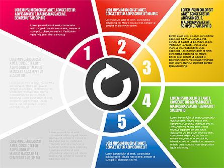 Round Flow Stage Diagram, Slide 10, 01600, Stage Diagrams — PoweredTemplate.com