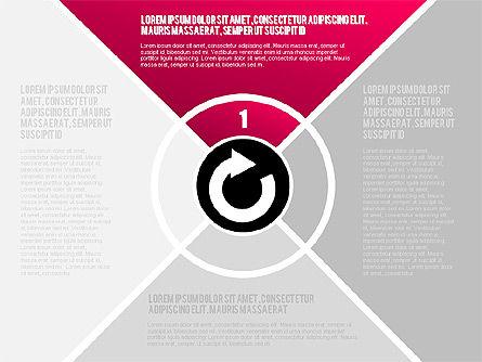 Round Flow Stage Diagram, Slide 13, 01600, Stage Diagrams — PoweredTemplate.com