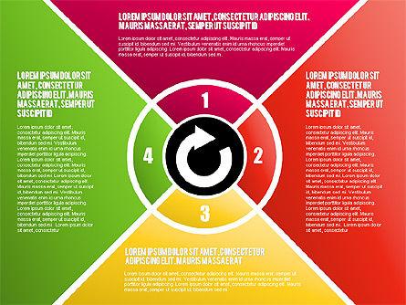Round Flow Stage Diagram, Slide 16, 01600, Stage Diagrams — PoweredTemplate.com