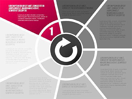 Round Flow Stage Diagram, Slide 6, 01600, Stage Diagrams — PoweredTemplate.com