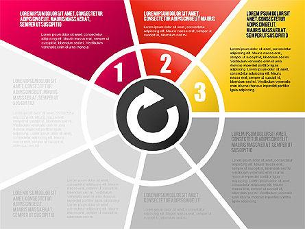 Round Flow Stage Diagram, Slide 8, 01600, Stage Diagrams — PoweredTemplate.com