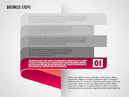 Steps with Icons, Slide 2, 01601, Stage Diagrams — PoweredTemplate.com