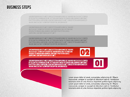 Steps with Icons, Slide 3, 01601, Stage Diagrams — PoweredTemplate.com