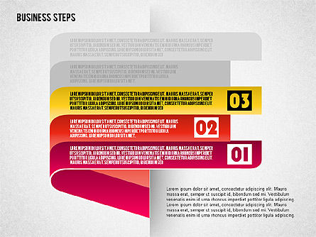 Steps with Icons, Slide 4, 01601, Stage Diagrams — PoweredTemplate.com