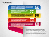 Stage Diagrams: Steps with Icons #01601