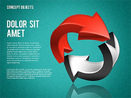 Creative Objects, Slide 11, 01603, Shapes — PoweredTemplate.com