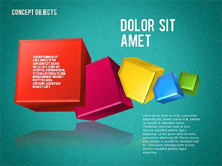 Creative Objects, Slide 12, 01603, Shapes — PoweredTemplate.com