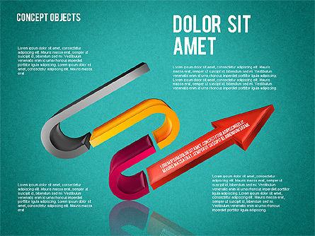 Creative Objects, Slide 16, 01603, Shapes — PoweredTemplate.com