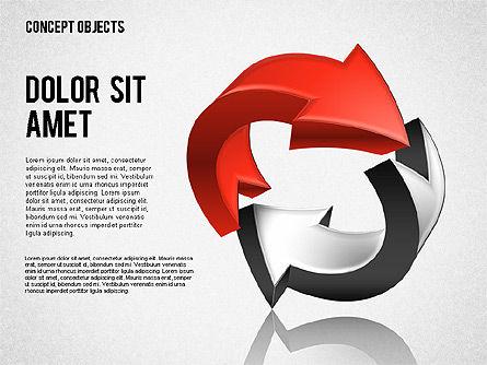 Creative Objects, Slide 3, 01603, Shapes — PoweredTemplate.com