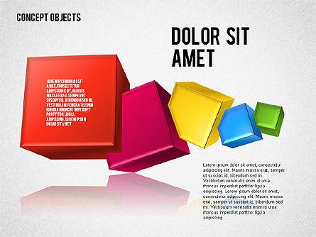 Creative Objects, Slide 4, 01603, Shapes — PoweredTemplate.com
