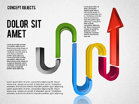 Creative Objects, Slide 6, 01603, Shapes — PoweredTemplate.com
