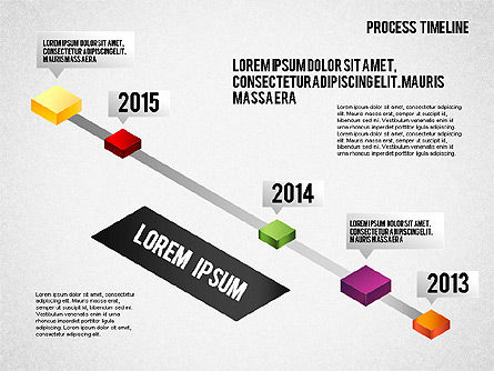 Isometric Timeline Process, 01605, Timelines & Calendars — PoweredTemplate.com
