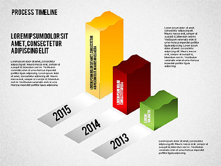 Isometric Timeline Process, Slide 2, 01605, Timelines & Calendars — PoweredTemplate.com