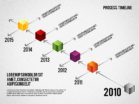 Isometric Timeline Process, Slide 3, 01605, Timelines & Calendars — PoweredTemplate.com