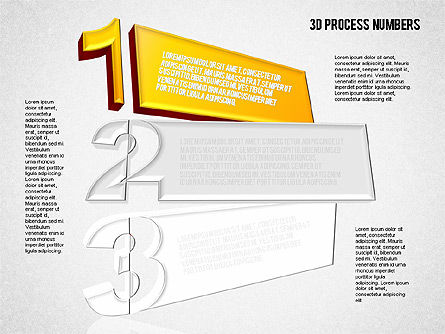 Shapes and Stage with Numbers, Slide 4, 01607, Stage Diagrams — PoweredTemplate.com