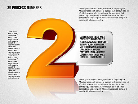 Shapes and Stage with Numbers, Slide 8, 01607, Stage Diagrams — PoweredTemplate.com