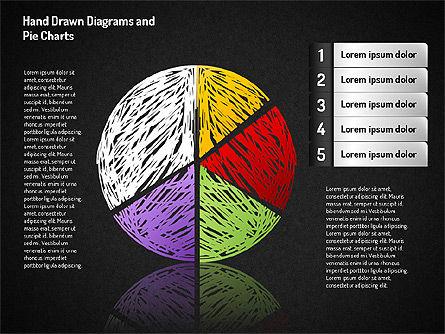 Crayon Style Pie Charts, Slide 10, 01608, Pie Charts — PoweredTemplate.com