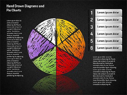 Crayon Style Pie Charts, Slide 11, 01608, Pie Charts — PoweredTemplate.com