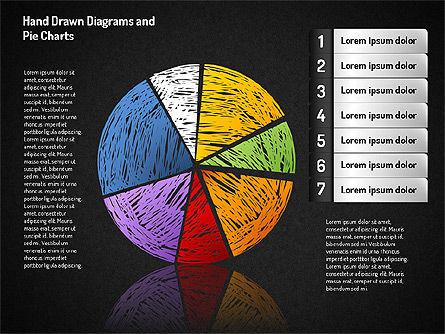 Crayon Style Pie Charts, Slide 12, 01608, Pie Charts — PoweredTemplate.com