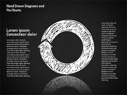 Crayon Style Pie Charts, Slide 13, 01608, Pie Charts — PoweredTemplate.com