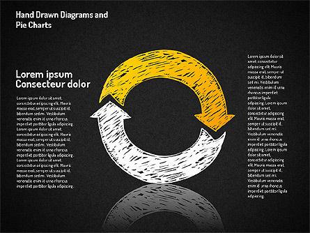 Crayon Style Pie Charts, Slide 14, 01608, Pie Charts — PoweredTemplate.com