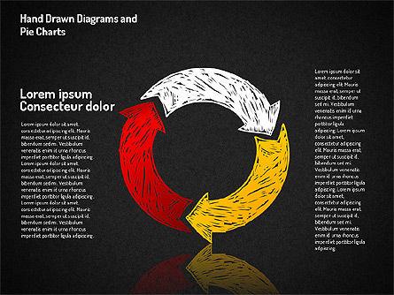 Crayon Style Pie Charts, Slide 15, 01608, Pie Charts — PoweredTemplate.com