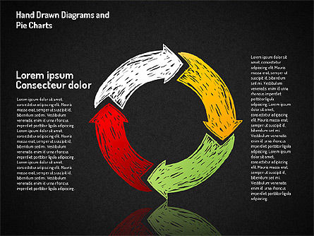 Crayon Style Pie Charts, Slide 16, 01608, Pie Charts — PoweredTemplate.com