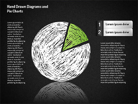 Crayon Style Pie Charts, Slide 3, 01608, Pie Charts — PoweredTemplate.com
