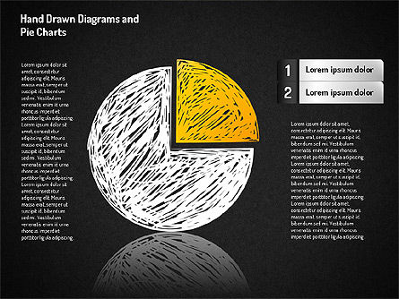 Crayon Style Pie Charts, Slide 4, 01608, Pie Charts — PoweredTemplate.com