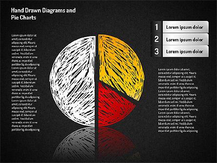 Crayon Style Pie Charts, Slide 5, 01608, Pie Charts — PoweredTemplate.com