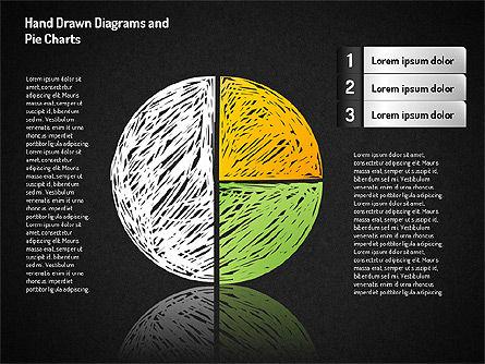 Crayon Style Pie Charts, Slide 6, 01608, Pie Charts — PoweredTemplate.com