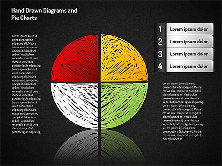Crayon Style Pie Charts, Slide 7, 01608, Pie Charts — PoweredTemplate.com