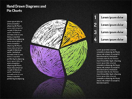 Crayon Style Pie Charts, Slide 8, 01608, Pie Charts — PoweredTemplate.com