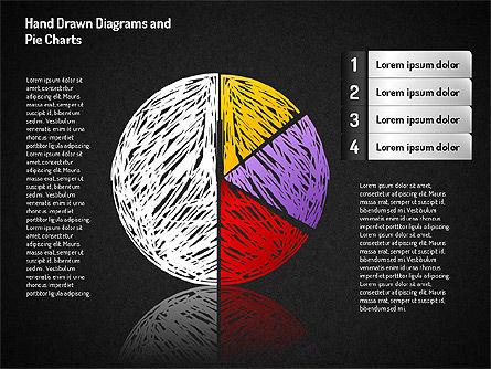 Crayon Style Pie Charts, Slide 9, 01608, Pie Charts — PoweredTemplate.com