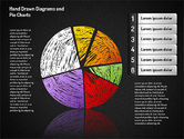 Pie Charts: Crayon Style Pie Charts #01608