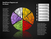 Crayon Style Pie Charts#11